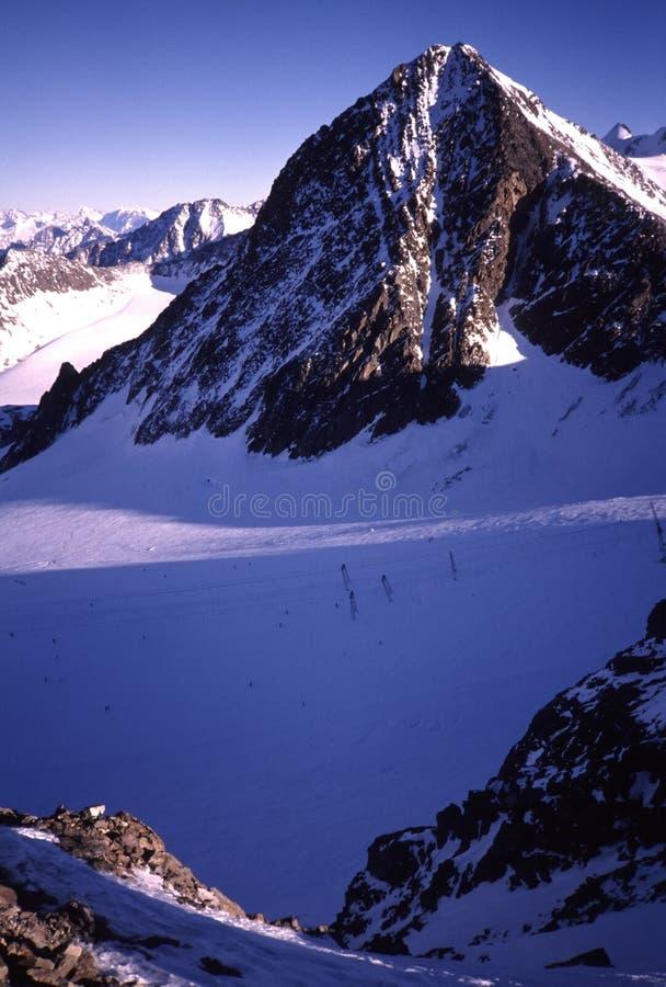 De Gletsjer van Stubai stock afbeeldingen