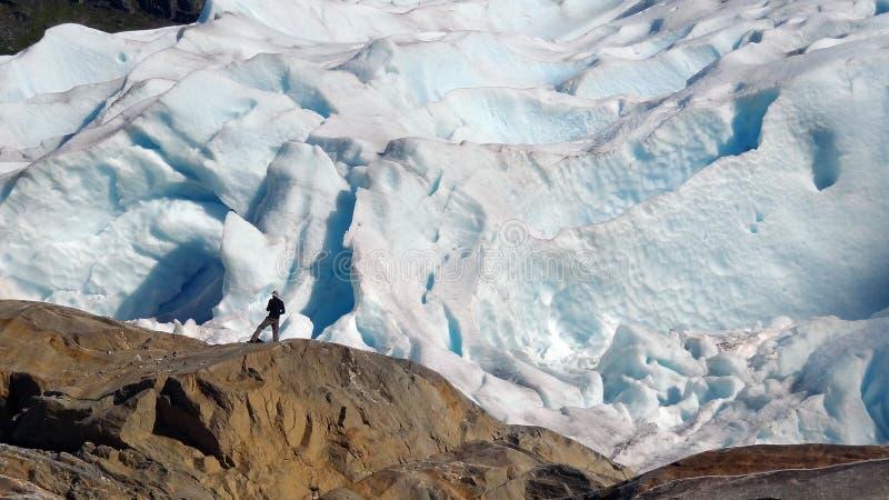 De Gletsjer van Svartisen royalty-vrije stock afbeeldingen