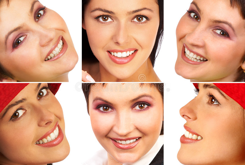 De glimlach van de vrouw royalty-vrije stock foto's