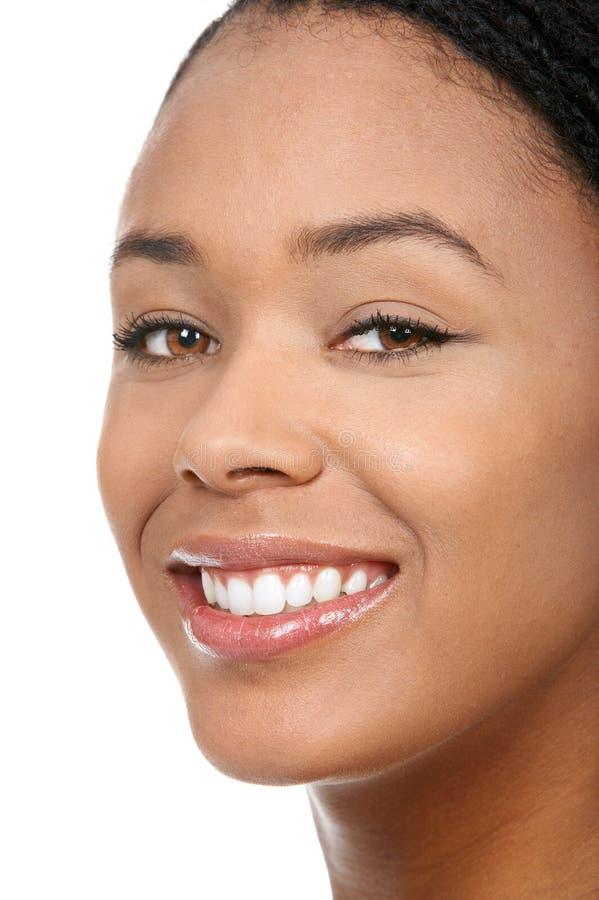 De glimlach van de vrouw royalty-vrije stock fotografie