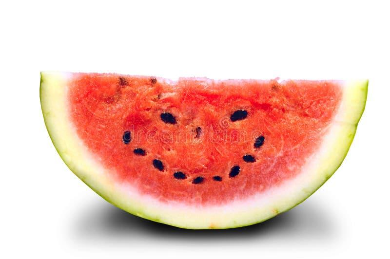 De glimlachen van de watermeloen stock foto's