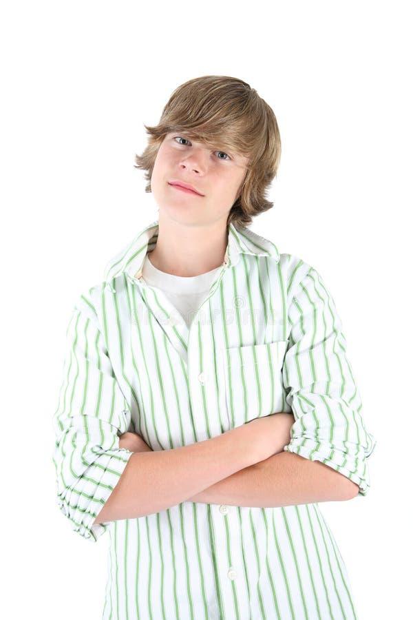 De glimlachende jongen van de Tiener royalty-vrije stock foto's