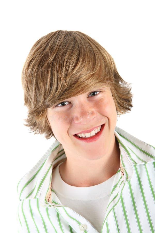 De glimlachende jongen van de Tiener stock afbeelding
