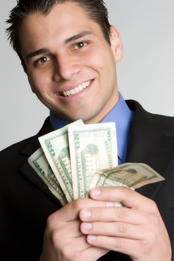 De glimlachende Mens van het Geld royalty-vrije stock afbeeldingen