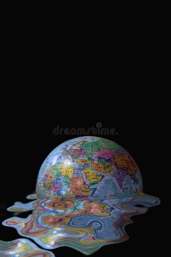 De globale afsmelting van de aarde stock afbeelding