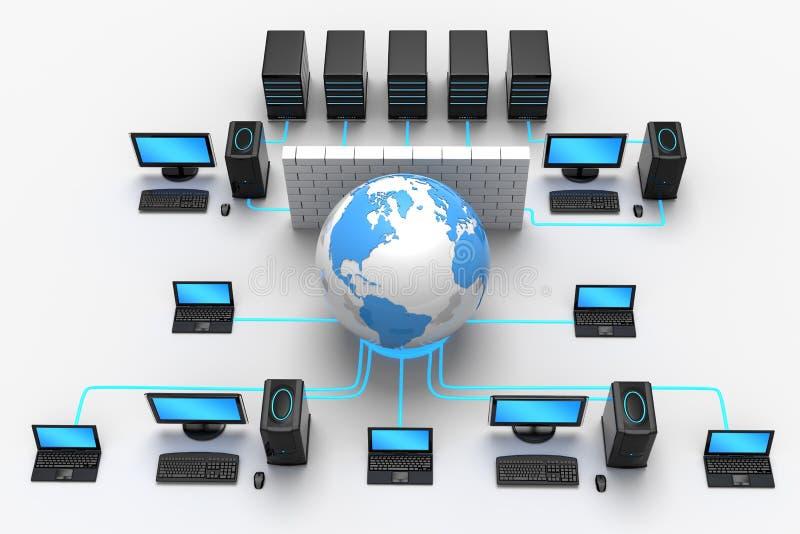 De globale Bescherming van het Netwerk royalty-vrije illustratie