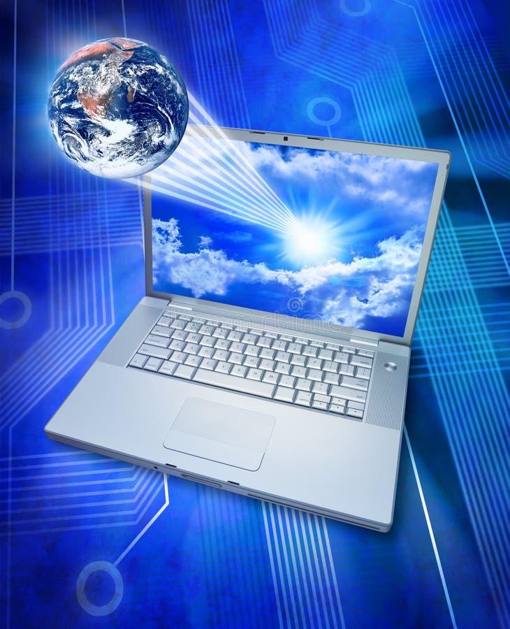 De globale Computertechnologie van de Informatie stock illustratie