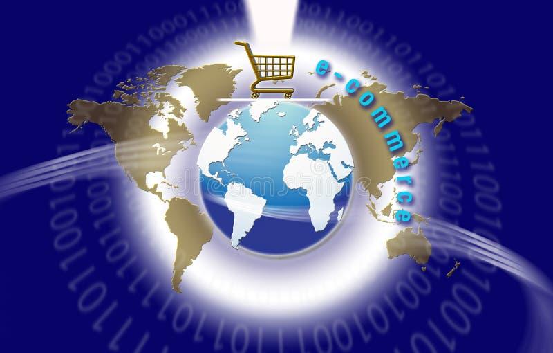 De globale Elektronische handel van de Technologie royalty-vrije illustratie