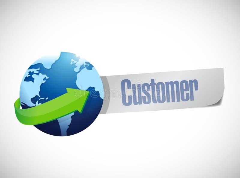 De globale klanten ondertekenen illustratieontwerp stock illustratie