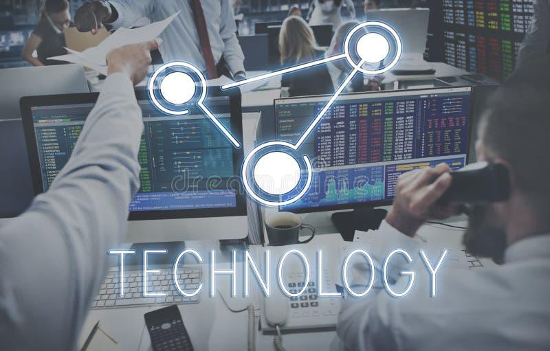 De globale van de Communicatie Technologie Concep Verbindingsglobalisering stock foto