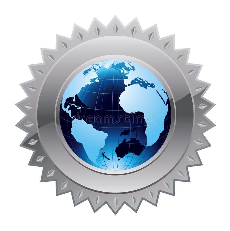 De globale veiligheid van de wereld vector illustratie