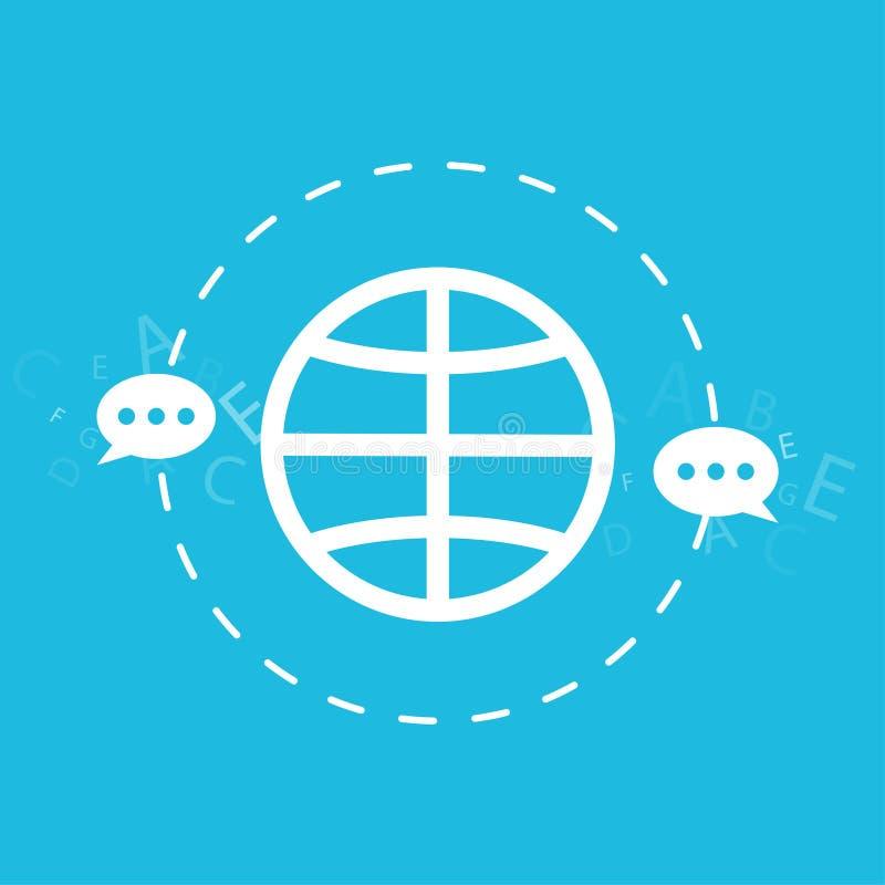 De globale verbinding en navigatietechnologie, verzendt e-mail, bericht, concept geïsoleerde illustratie stock illustratie