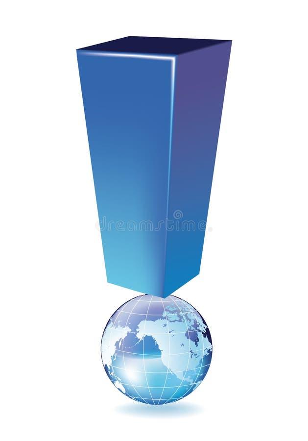 De globale Waarschuwing stock foto's