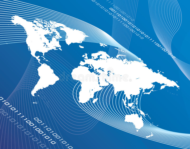 De Globalisering van de wereld royalty-vrije illustratie
