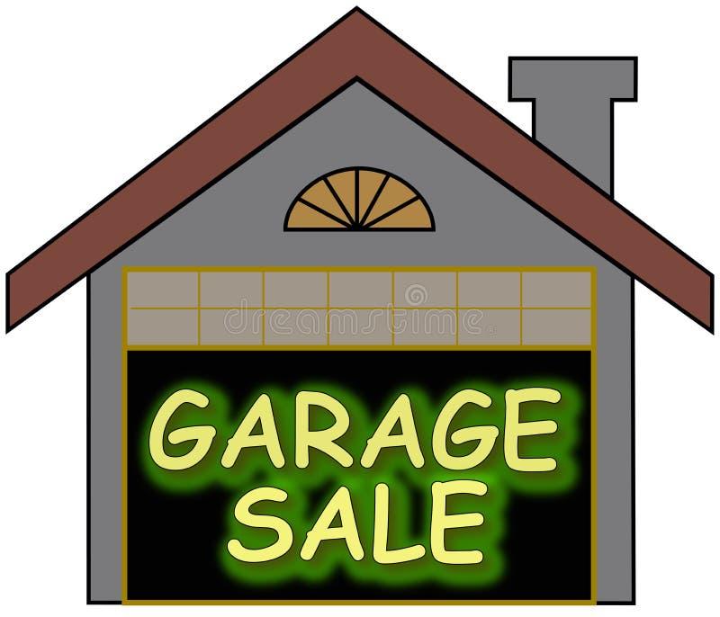 De gloed van de garage sale opteert stock illustratie