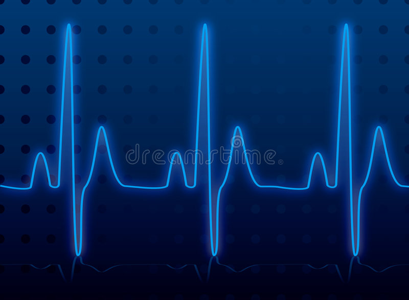De gloed van de hartslag vector illustratie