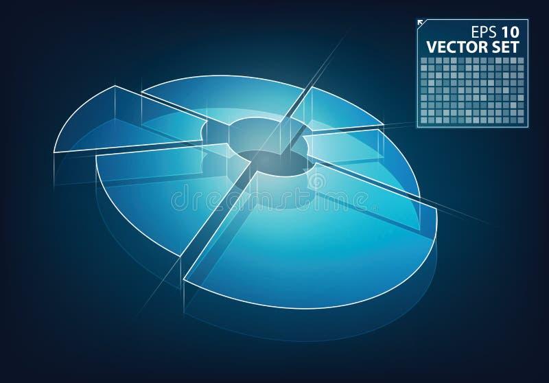 De gloed vector van het bedrijfs neon grafiek stock illustratie