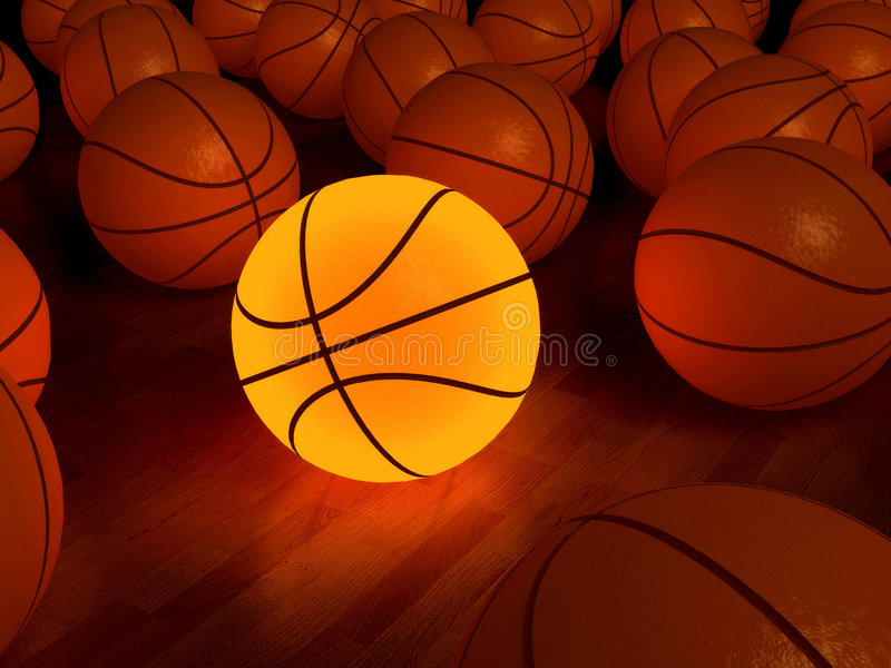 De gloedbal van het basketbal vector illustratie