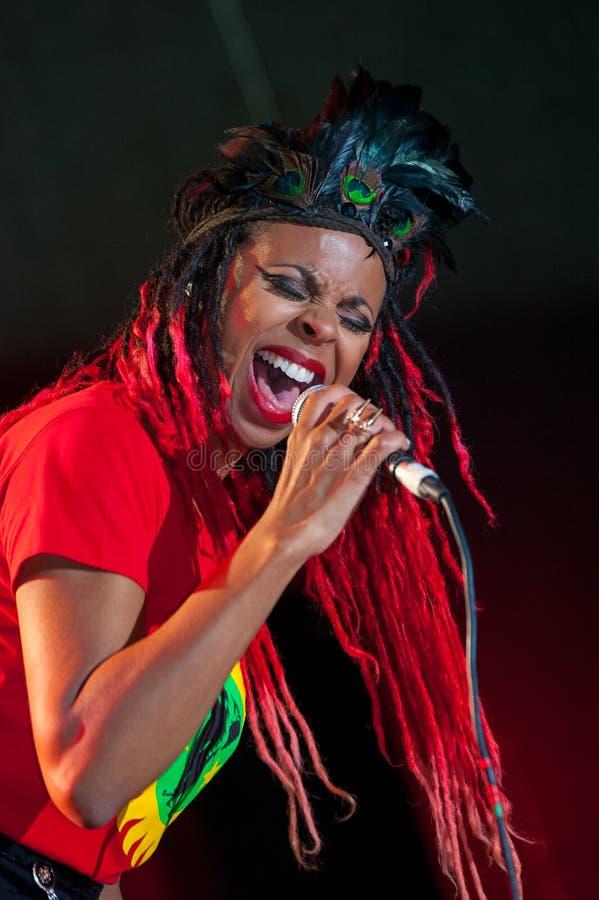 De Gloednieuwe Heavies-Groep presteert in Usadba Jazz Festival stock afbeeldingen