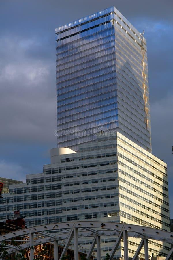 De gloednieuwe lagere het bureaubouw van Manhattan royalty-vrije stock foto