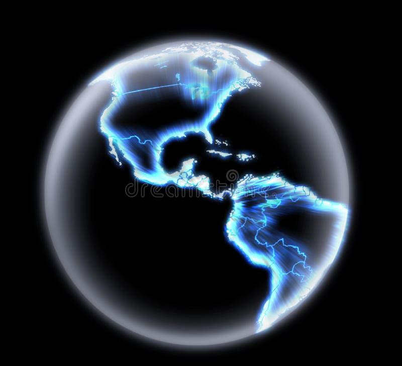 De gloeiende Bol van de Aarde stock fotografie
