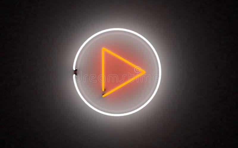 De gloeiende knoop van het neonlichtspel het 3d teruggeven stock afbeelding