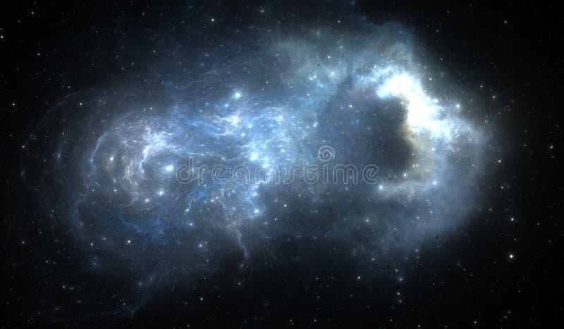 De gloeiende nevel is de rest van een supernovaexplosie royalty-vrije illustratie