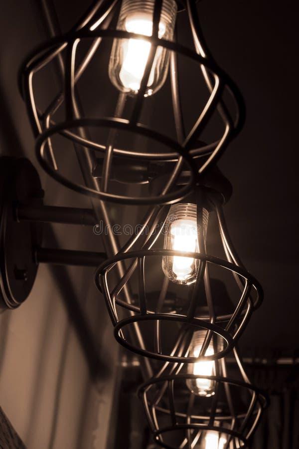 De gloeilampen van Edison stock foto