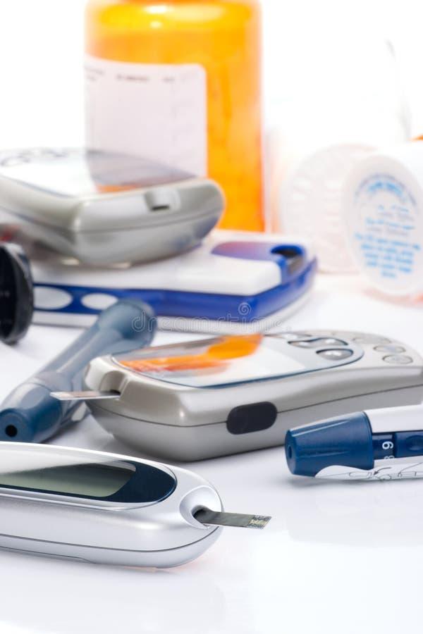 De glucose controlesysteem van het bloed royalty-vrije stock fotografie