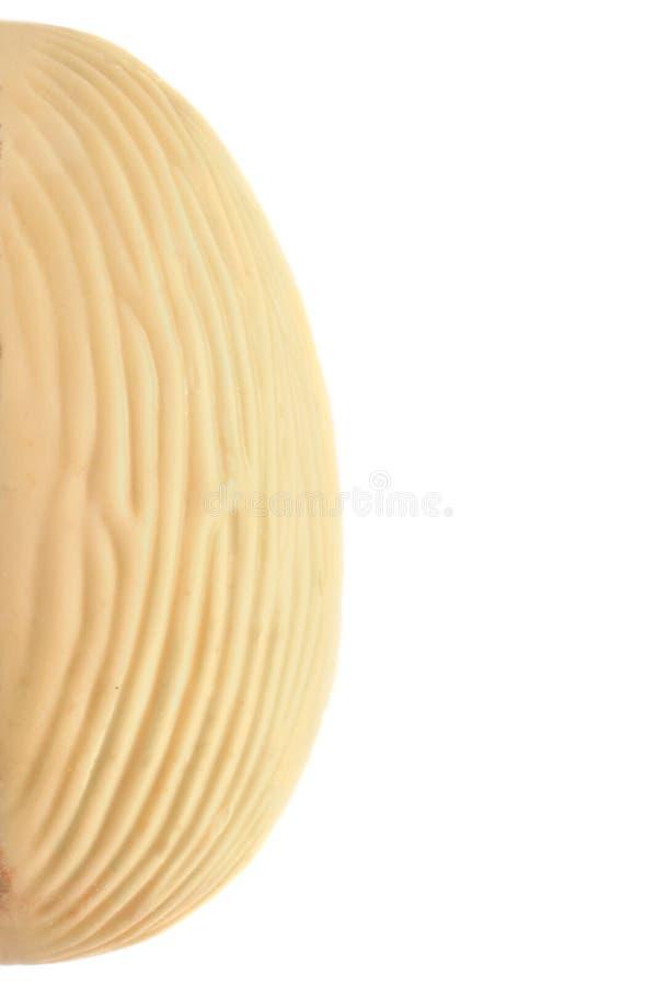 De goût blanc d'oeuf de pâques de chocolat demi de gauche photo stock