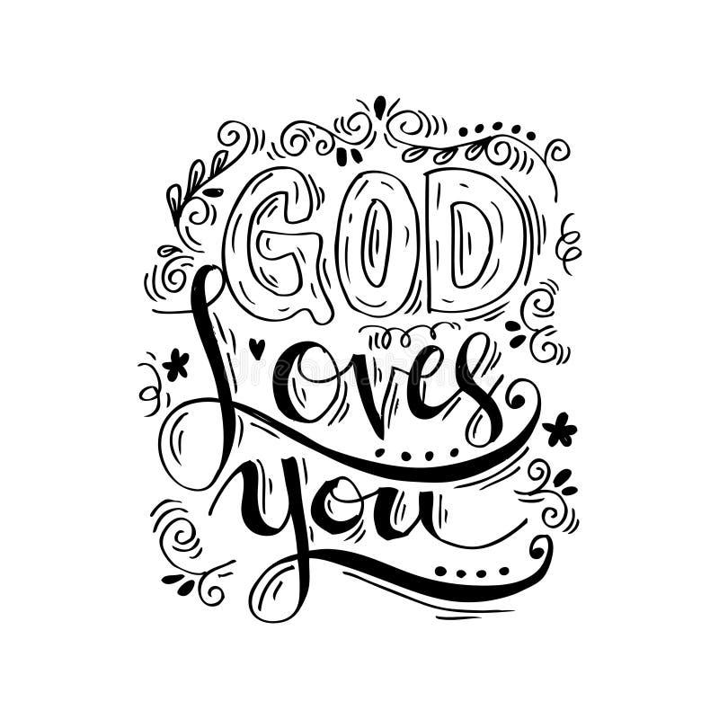 De god houdt van u vector illustratie