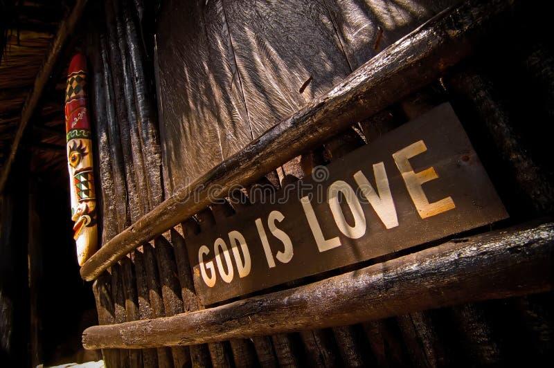 De god is liefde royalty-vrije stock foto