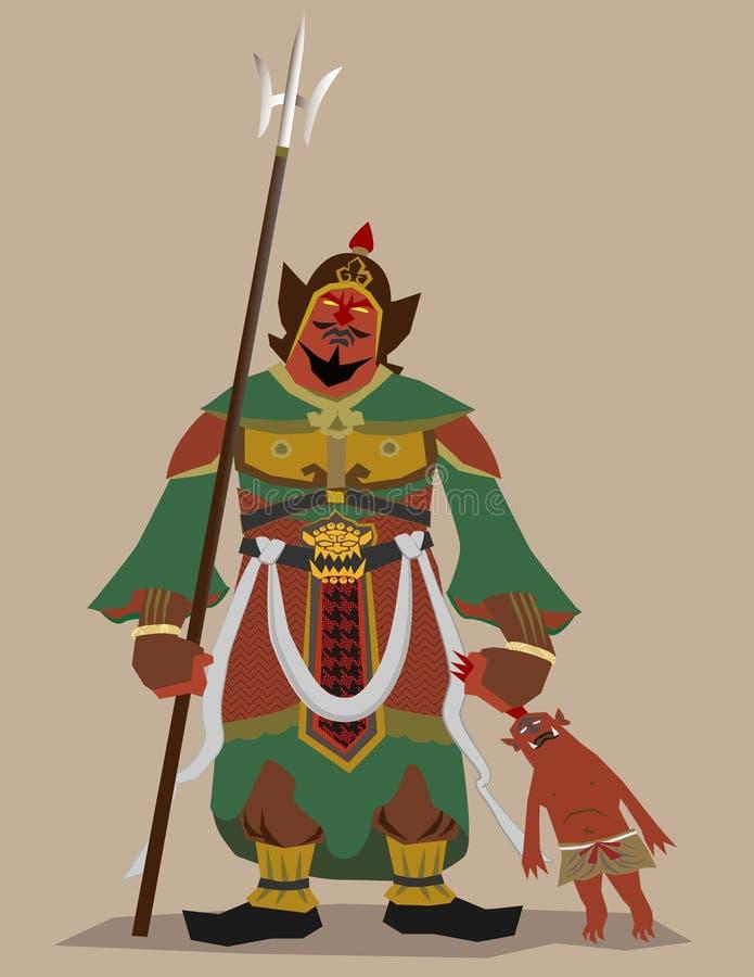 De god van de beschermer van Boeddhisme stock illustratie
