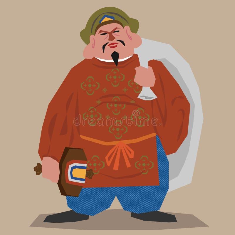 De god van de rijkdom van Boeddhisme stock illustratie