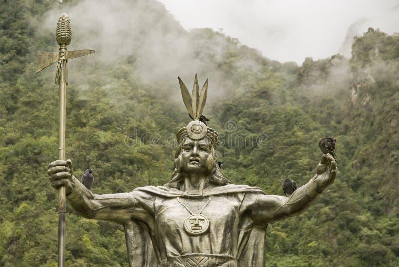 De God van Inca door Machu Picchu royalty-vrije stock foto