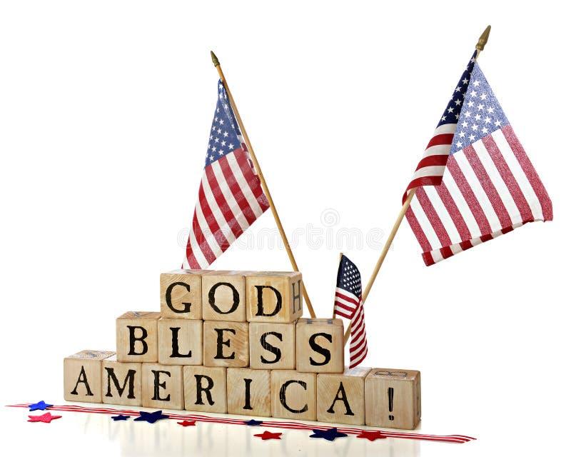 De god zegent Amerika! royalty-vrije stock afbeelding