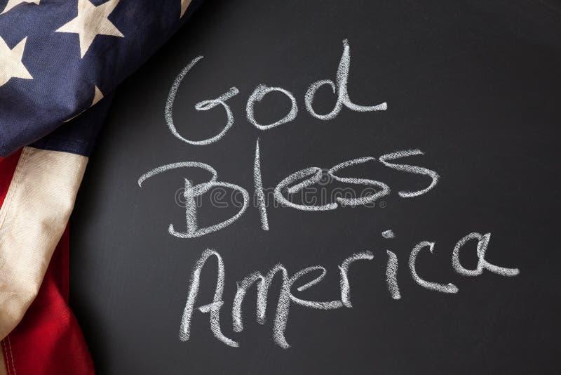 De god zegent het teken van Amerika royalty-vrije stock afbeeldingen