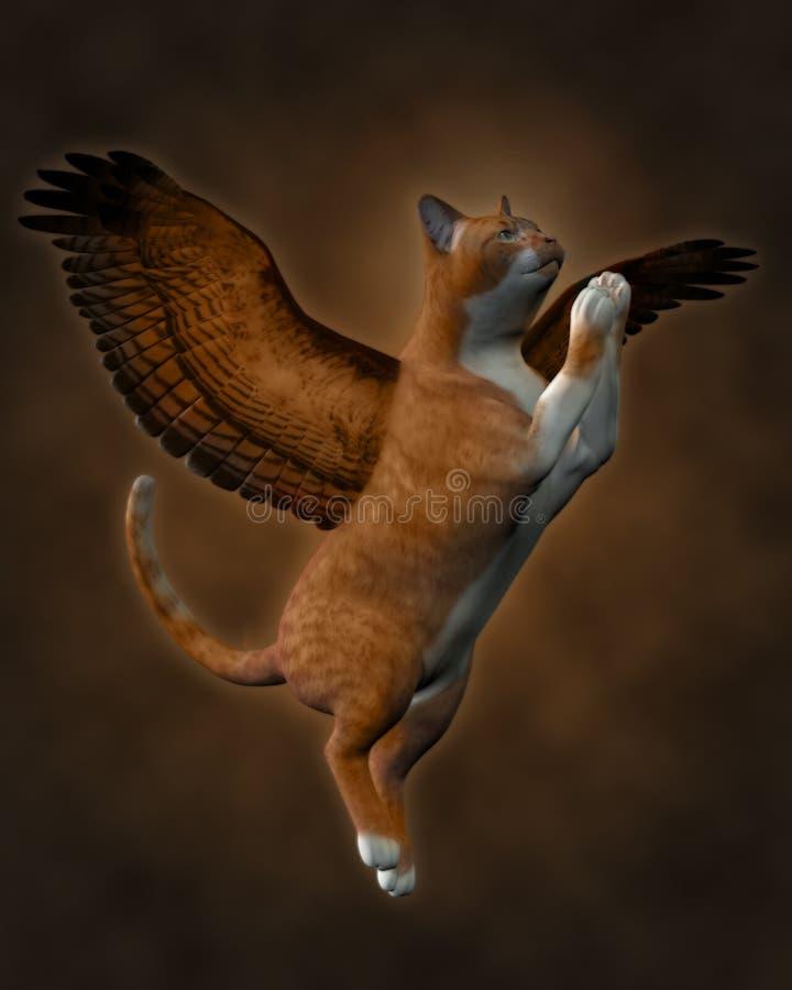 De goede (Bruine) Kat stock illustratie