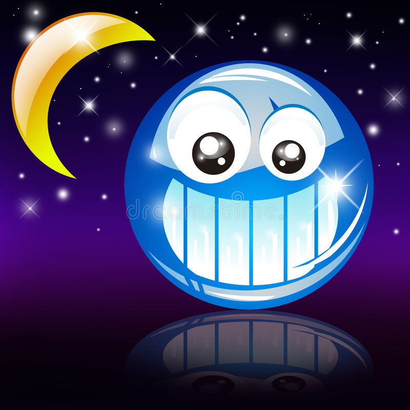 De goede Glimlach van de Nacht vector illustratie