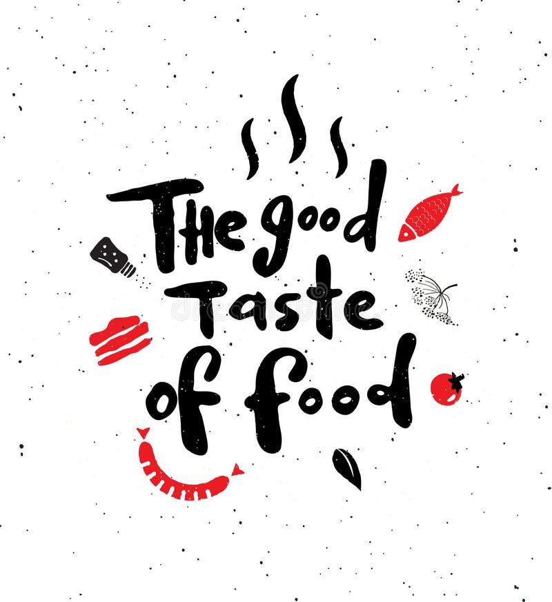 De goede smaak van voedsel royalty-vrije illustratie