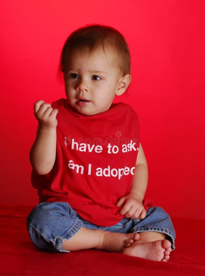De goedkeuring van de baby stock fotografie