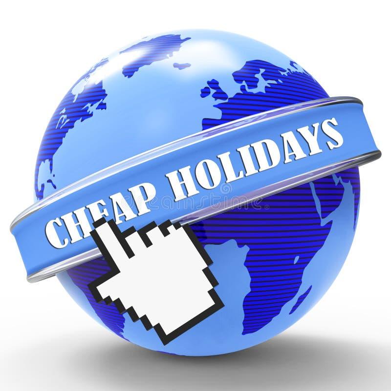 De goedkope Vakantie toont Lage Kosten en Promotie stock illustratie