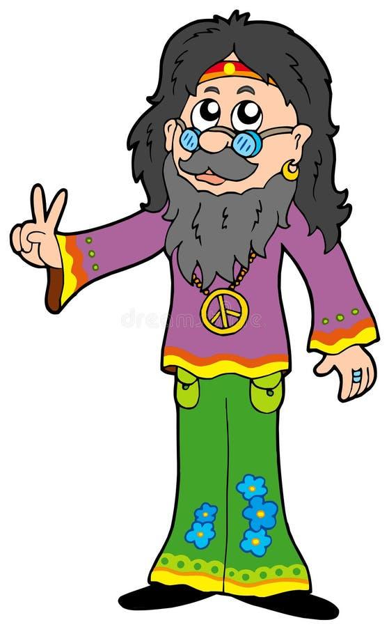 De goeroe van de hippie royalty-vrije illustratie