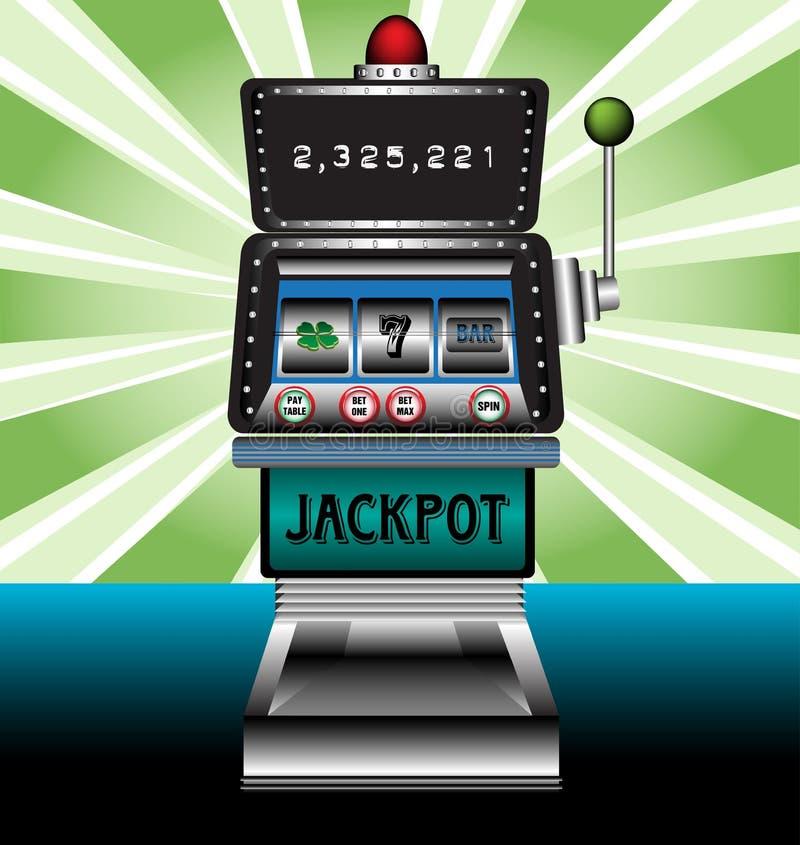 De gokautomaat van het casino stock illustratie