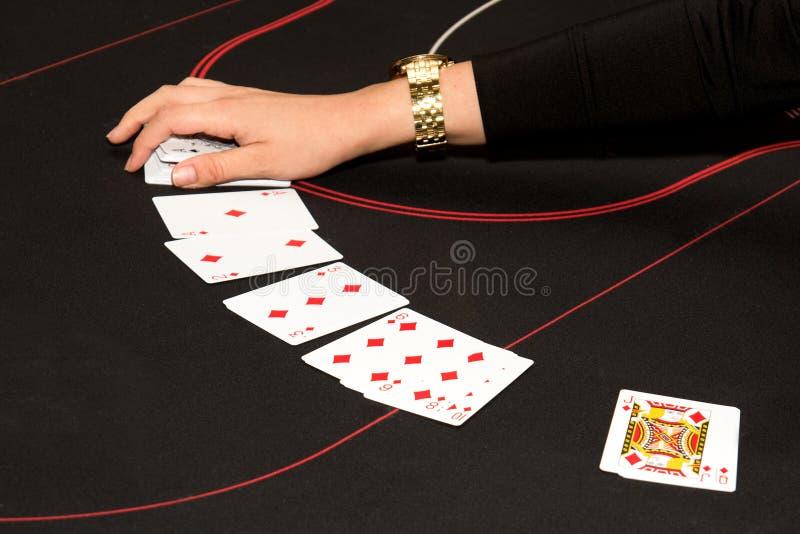 De gokkende handelaar van het blackjackcasino stock foto