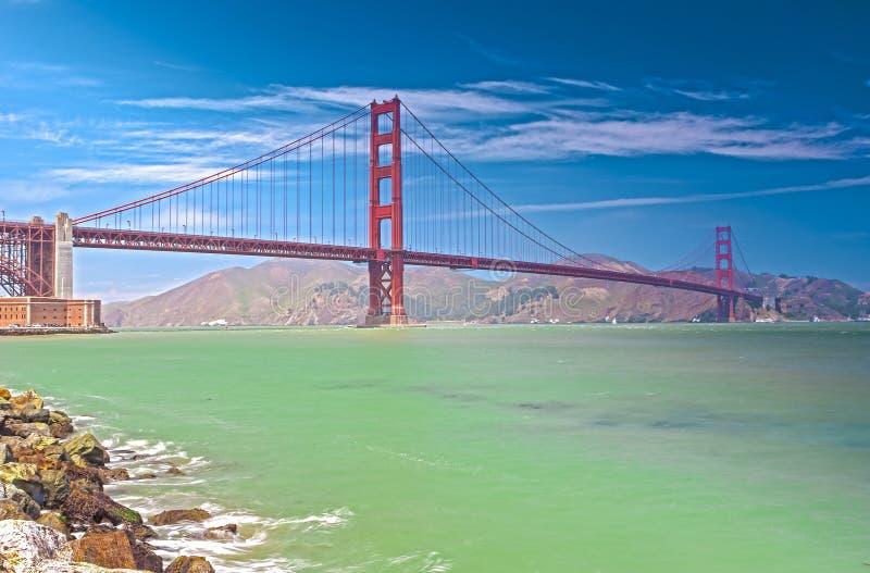 De Golden Gate Wereldberoemde Brug in de Stad van San Francisco, Californië stock afbeeldingen