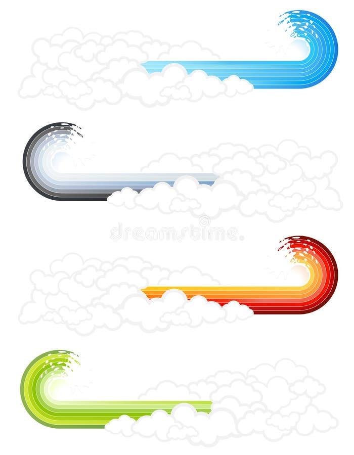 De golf bewolkte elementen van de plons