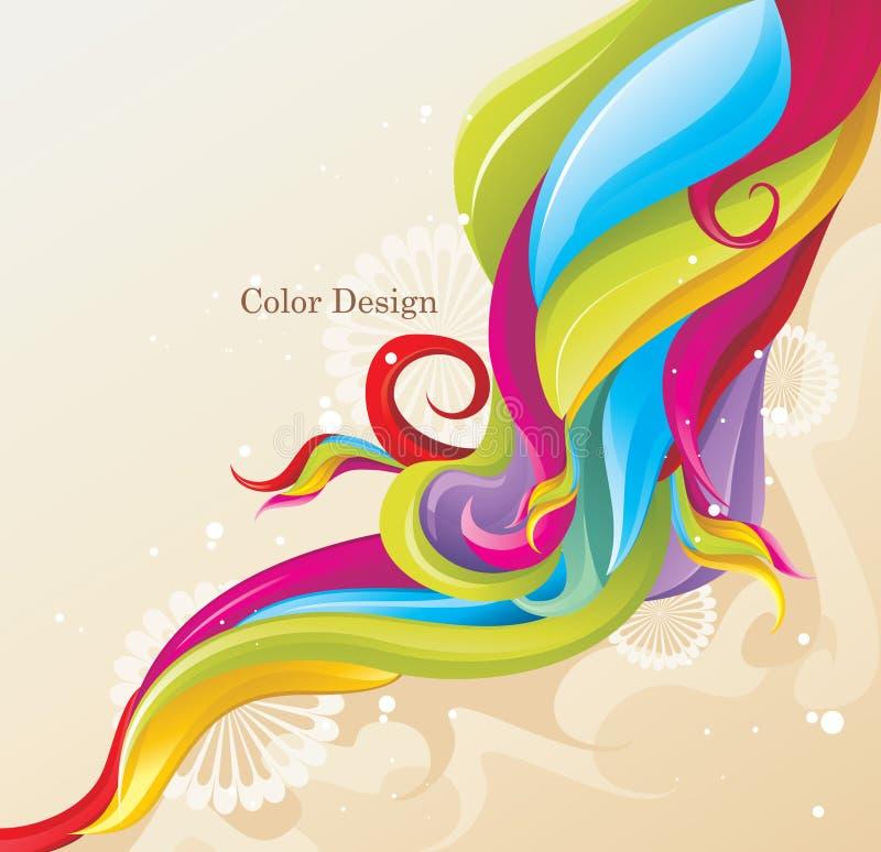 De golf van de kleur   stock illustratie