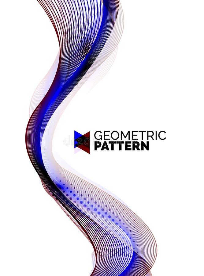 De golf van de kleurenrook op wit vector illustratie