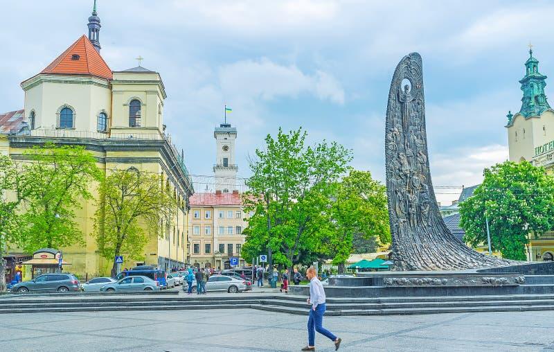 De Golf van de Nationale Heropleving in Lvov royalty-vrije stock foto's